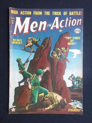 Men In Action #8 1952 - war comics, tales of The American infantry - golden age!