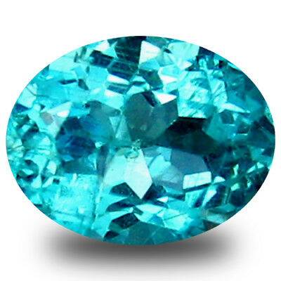 0.54 ct Lovely Oval Cut (6 x 5 mm) Natural Paraiba Blue Color Apatite Gemstone