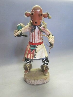 """Vintage Kachina Mud Man Sweet Corn Meal Signed From Older Collection 14"""""""