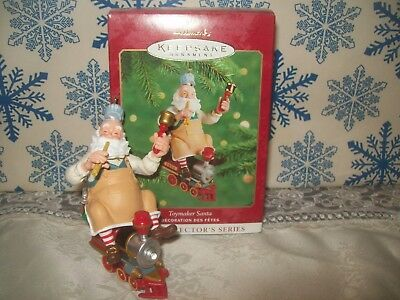 Hallmark Toymaker Santa #1 Series 2000 Christmas Keepsake Ornaments Train