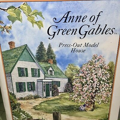 Anne of Green Gables 1994 PRESS OUT MODEL HOUSE BOOK Unused