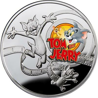 Niue 2013 $1 Cartoon Characters TOM & JERRY Proof Silver Coin