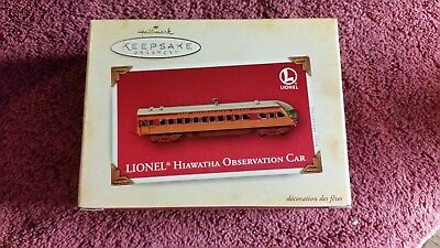 Hallmark Keepsake Ornament Lionel Hiawatha Observation Car 2004 NIB