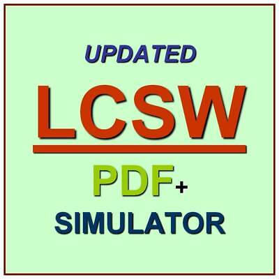 ASWB Clinical Level Social Work Licensing Exam LCSW Test QA PDF+Simulator