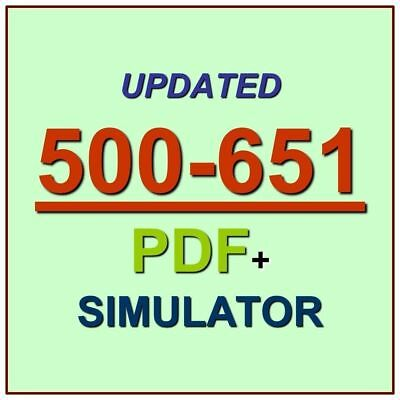 Cisco Security Architecture Systems Engineer SASE Test 500-651 Exam QA PDF+SIM