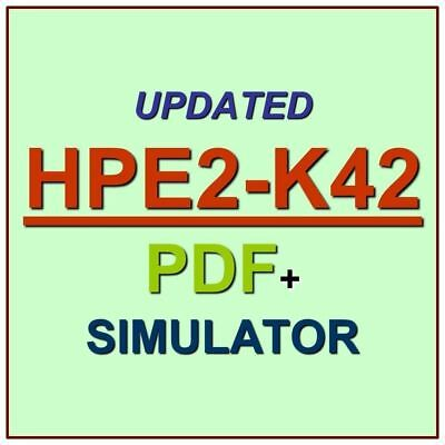 Designing HPE Nimble Solutions Test HPE2-K42 Exam QA PDF+Simulator