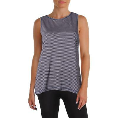 Calvin Klein Performance Womens Pink Striped Fitness Tank Top Shirt S BHFO 4767