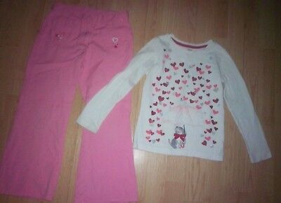 Gymboree Valentines 2 Piece Girls Outfit Size 7
