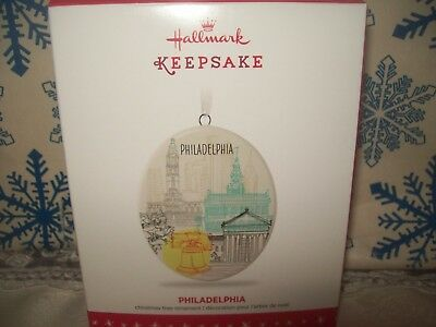 Hallmark Philadelphia 2016 Ceramic Regional Christmas Keepsake Ornaments