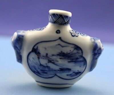 Chinese antique hand-painted landscape old snuff bottle **Free shipping**