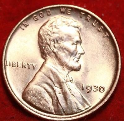 Uncirculated Red 1930 Philadelphia Mint Copper Lincoln Wheat Cent