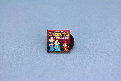 1:12 Dollhouse Miniature Alvin & The Chipmunks Record with Album Cover #HCX131