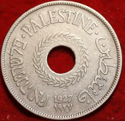 1927 Palestine 20 Mils Foreign Coin