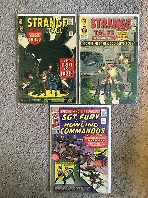 Strange Tales 137 138 Sgt Fury & His Howling Commandos King Size Annual 1