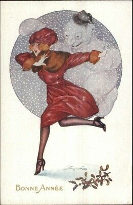 Xavier Sager Glamour New Year - Beautiful Woman & Snowman Fantasy PC #2