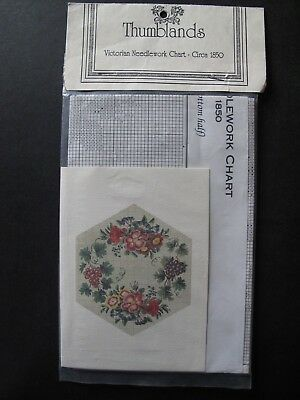 REPRODUCTION FLORAL BERLIN PATTERN (Wittich) c.1850 - cross stitch / needlepoint