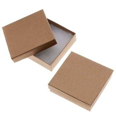 Beadaholique 16-Piece Kraft Square Cardboard Jewelry Boxes 3.5 by 1-Inch Brown