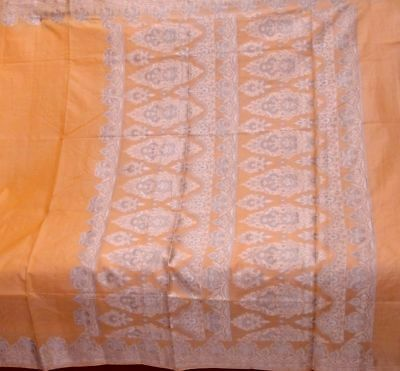 Antique Vintage Hand Woven Weaving Fabric Pure Silk Sari Saree