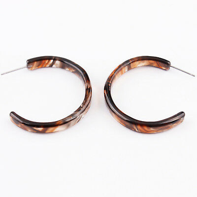 Acetate Acrylic Tortoise Shell Resin Circle Hoop Earrings for Women 2018 Jewelry