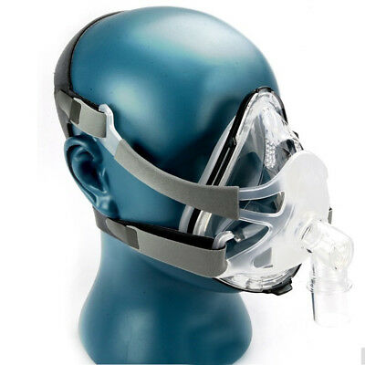 F1A Full Face Nasal Mask W/Headgear For CPAP BiPAP Sleep&Snore Respirator S/M/L