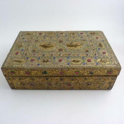 Burmese Gilded Lacquer And Wood Storage Box, 19Th Century