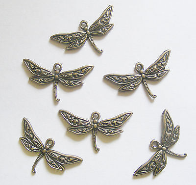 89PCS Antiqued Bronze Vintage Alloy Mini Delicate Dragonfly Pendant Charms 38091
