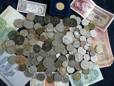 JOB LOT OF OLD COINS AND BANKNOTES 99p 531 X