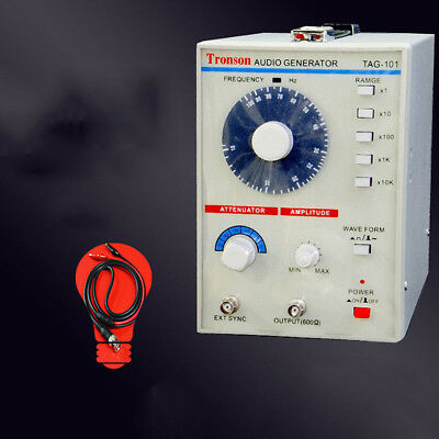 110V/220V TAG-101 Low Frequency Audio Signal Generator Signal Source 10Hz-1MHz