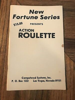 Action Roulette By New Fortune Series Sophisticated Method Of Roulette Booklet