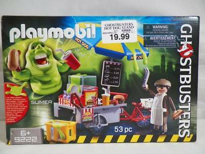 Playmobil GHOSTBUSTERS HOT DOG STAND W/SLIMER #9222 NEW IN SEALED BOX