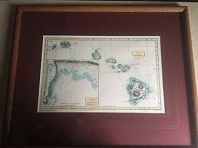 Chart of the Sandwich Isles - Lahaina Printsetters, Framed Limited Edition,1982