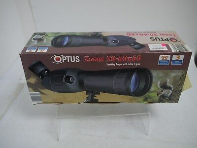 Boxed Optus Spotting Scope  20-60 x 60 and Tripod    (JBW 143)