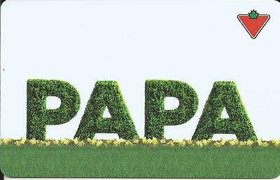 Papa Mint Gift Card From Canadian Tire Canada Bilingual 02/15 No Value