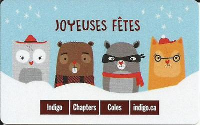 Owl Mint Gift Card From Indigo Chapters Canada Bilingual No Value 2017