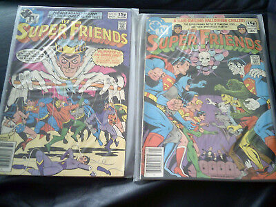 Super Friends #25 & #28  1979/80 (FN+) Bronze Age Two Issue Lot