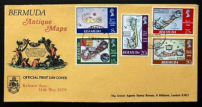 BERMUDA 1979 Antique Maps on Official FDC SEE BELOW NJ592