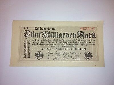 5 Milliarden Mark Inflation Banknote 20.10.1923