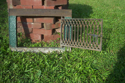 ANTIQUE IRON WINDOW SHIEILD GRATE FRAME LOCK 1800s SIMON DERR POTTSVILLE