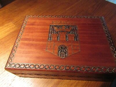 Vintage Treen hinged box From Krakow