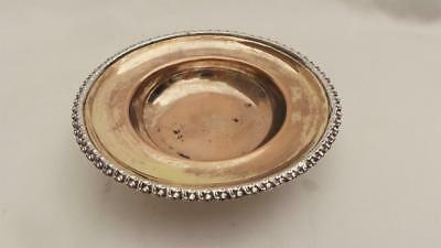 Finest Quality Old Sheffield Plate Silver Mounted & Mercury Gold Gilt Salt Dish
