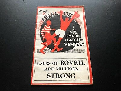 1934 Fa Cup Final Programme Portsmouth V Manchester City..unbelievably Scarce!!