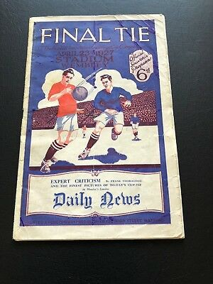 1927 Fa Cup Final Programme Cardiff City V Arsenal.an Absolutely Momentous Item!