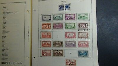 Algeria Stamp collection on Scott Int'l pages '36- 2009 w/ 255stamps