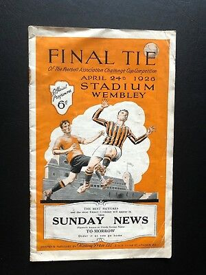 1926 Fa Cup Final Programme Bolton V Manchester City..a Truly Historic Item!