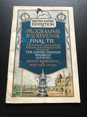 1923 Fa Cup Final Programme Bolton V West Ham..the Holy Grail Of Programmes!!