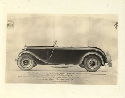 1929 Packard 633 Saoutchik Russian Prince Nicolas ORIGINAL Factory Photo oad0236
