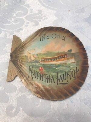 Early 1900s Trade Card Naptha Launch Boats New York