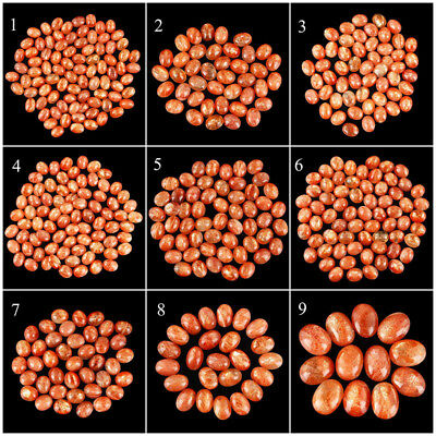 100% Natural Sunstone Untreated Finest Silky Shiny Cabochons ~ Wholesale Lots