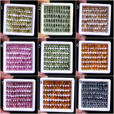VVS 60 Pcs IGLI Certified Lot Natural Tourmalines ~5mm/3mm Finest Quality Gems~