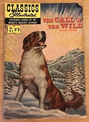 CLASSICS ILLUSTRATED COMIC No. 91 Call of the Wild 1/3 HRN 129